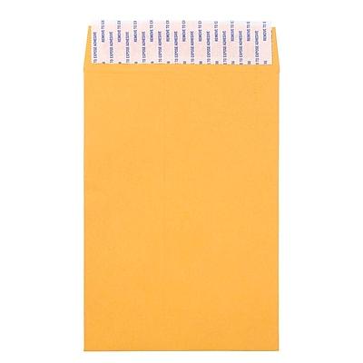 JAM Paper® Brown Kraft Envelopes w/ Peel & Seal Closure, 6