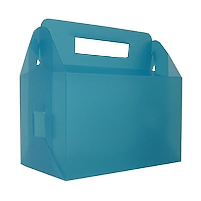 JAM Paper® Plastic Lunchbox, 4.75 x 7.75 x 4.75, Blue Frost, Sold Individually (3393997)
