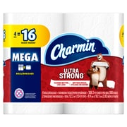Charmin Ultra Strong 2-Ply Toilet Paper, 4 Mega Rolls (97790)