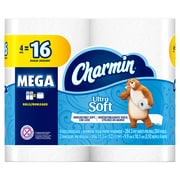 Charmin Ultra Soft 2-Ply Toilet Paper, 4 Mega Rolls (61324)