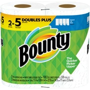 Bounty 2-Ply Select-A-Size Paper Towels, White, 2 Huge Rolls = 5 Regular Rolls (76213)
