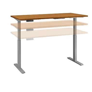 Move 60 by Business Furniture 72W x 30D Height Adjustable Standing Desk - Installed, Natural Cherry (M6S7230NCSKFA)