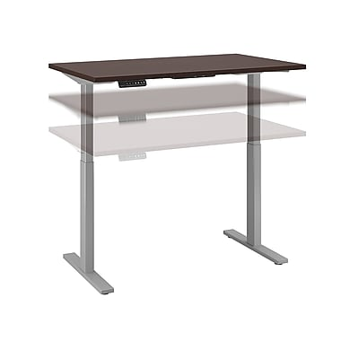 Move 60 by Business Furniture 48W x 24D Height Adjustable Standing Desk - Installed, Mocha Cherry (M6S4824MRSKFA)