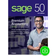 Sage 50 Premium Accounting 2018 U.S. 3-User for Windows (1-3 Users) [Download]