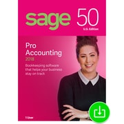 Sage 50 Pro Accounting 2018 U.S. for Windows (1 User) [Download]