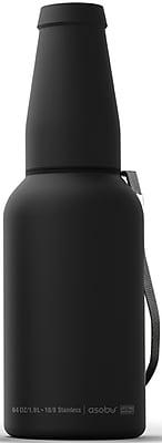ASOBU Mighty Growler Food Grade Stainless Steel Beer Growler for Micro-Brew Experience (G4G), Black - 64oz (G4G-BLACK)