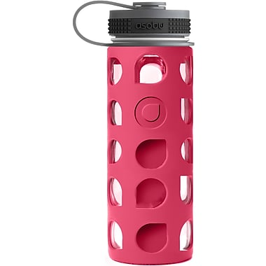 ASOBU BPA Free Nature's Way Wide Mouth Eco Friendly Glass Water Bottle, Red, 20 oz. (GMF1-RED)