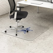 "Deflecto Dallas Cowboys EconoMat® 45"" x 53"" Rectangle Hard Floor Chair Mat (NFL21242DALCOM)"