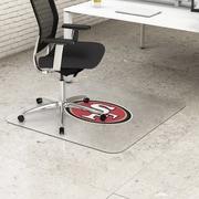 "Deflecto San Francisco 49ers EconoMat® 45"" x 53"" Rectangle Hard Floor Chair Mat (NFL21242SFCOM)"