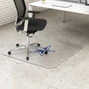 "Deflecto Dallas Cowboys EconoMat® 46"" x 60"" Rectangle Hard Floor Chair Mat (NFL21442FDALCOM)"
