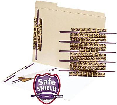 LUX Self-Adhesive Paper Fasteners, Purple, 50/Pack (2SAFPL-50)