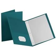 """LUX 9"""" x 12"""" Presentation Folders w/ Brads 250/Pack, Teal (F912TEALBRAD250)"""