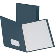 "LUX 9"" x 12"" Presentation Folders w/ Brads 250/Pack, Dark Blue (912DBLUEBRAD250)"