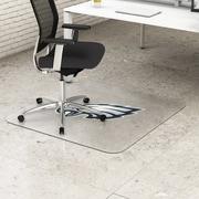 "Deflecto Philadelphia Eagles EconoMat® 46"" x 60"" Rectangle Hard Floor Chair Mat (NFL21442FPHICOM)"