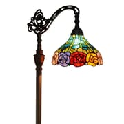 "Amora Lighting Reading Lamp, Multi-Colored, 62""H x 12""W Shade (AM035FL12)"
