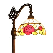 "Amora Lighting Reading Lamp, Multi-Colored, 62""H x 10""W Shade (AM079FL10)"