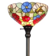 "Amora Lighting Torchiere Lamp, Multi-Colored, 70""H x 14""W Shade (AM022FL14)"