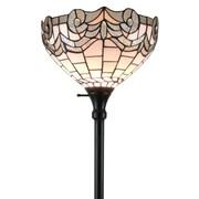 "Amora Lighting Reading Lamp, White, 62""H x 11""W Shade (AM262FL11)"