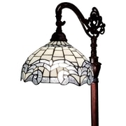 "Amora Lighting Torchiere Lamp, White, 62""H x 16""W Shade (AM265FL14)"