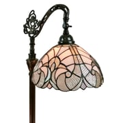 """Amora Lighting White Wall Sconce Lamp 7.3""""H x 12"""" Wide (AM249WL12)"""