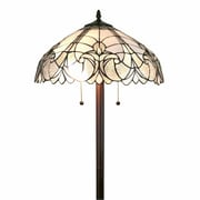 "Amora Lighting Torchiere Lamp, Multi-Colored, 72""H x 12""W Shade (AM1086FL12)"