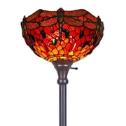 "Amora Lighting Torchiere Lamp, Multi-Colored, 72""H x 14""W Shade (AM040FL14)"