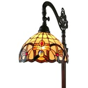 """Amora Lighting White Wall Sconce Lamp 7.25""""H x 12"""" Wide (AM271WL12)"""