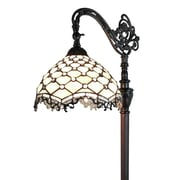 "Amora Lighting Reading Lamp, Multi-Colored, 62""H x 12""W Shade (AM1114FL12)"