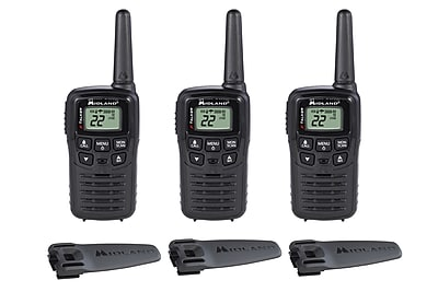 Midland X-Talker T10X3 Two-Way Radio Bundle, 3/Pack