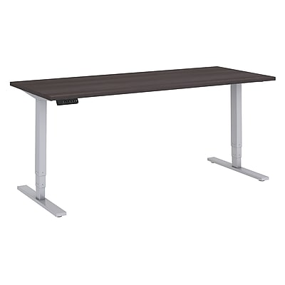 Move 80 Series by Bush Business Furniture 72W x 30D Height Adjustable Standing Desk, Storm Gray/Cool Gray Metallic (HAT7230SGK)
