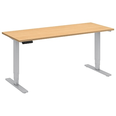 Move 80 Series by Bush Business Furniture 60W x 24D Height Adjustable Standing Desk, Natural Maple (HAT6024ACK)