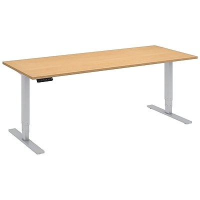 Move 80 Series by Bush Business Furniture 72W x 30D Height Adjustable Standing Desk, Natural Maple (HAT7230ACK)
