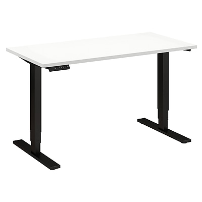 Move 80 Series by Bush Business Furniture 48W x 24D Height Adjustable Standing Desk, White (HAT4824WHBK)