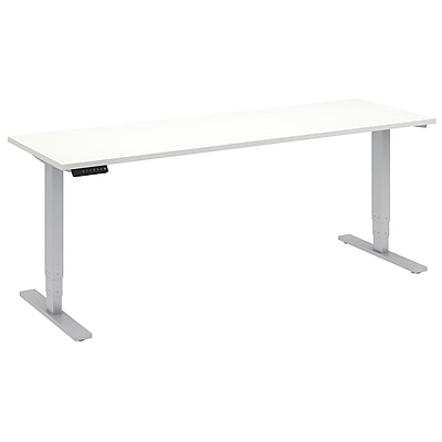 Move 80 Series by Bush Business Furniture 72W x 24D Height Adjustable Standing Desk, White (HAT7224WHK)