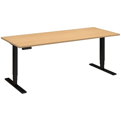 Move 80 Series by Bush Business Furniture 72W x 30D Height Adjustable Standing Desk, Natural Maple (HAT7230ACBK)