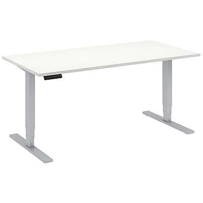 Move 80 Series by Bush Business Furniture 60W x 30D Height Adjustable Standing Desk, White (HAT6030WHK)
