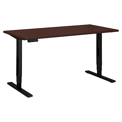 Move 80 Series by Bush Business Furniture 60W x 30D Height Adjustable Standing Desk, Harvest Cherry (HAT6030CSBK)