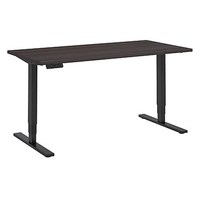 Move 80 Series by Bush Business Furniture 60W x 30D Height Adjustable Standing Desk, Storm Gray/Black Powder Coat (HAT6030SGBK)