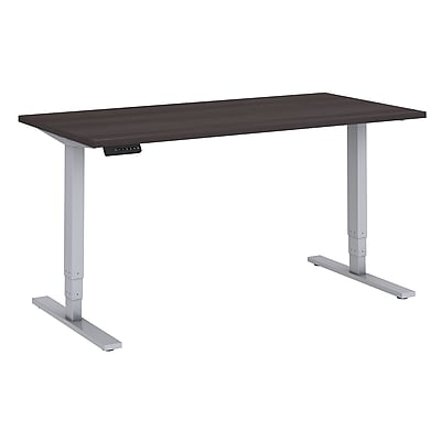 Move 80 Series by Bush Business Furniture 60W x 30D Height Adjustable Standing Desk, Storm Gray/Cool Gray Metallic (HAT6030SGK)