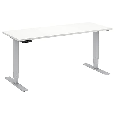 Move 80 Series by Bush Business Furniture 60W x 24D Height Adjustable Standing Desk, White (HAT6024WHK)