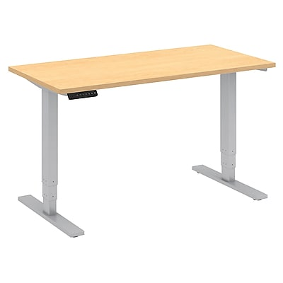 Move 80 Series by Bush Business Furniture 48W x 24D Height Adjustable Standing Desk - Installed, Natural Maple (HAT4824ACKFA)
