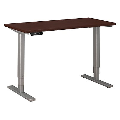 Move 80 Series by Bush Business Furniture 48W x 24D Height Adjustable Standing Desk - Installed, Harvest Cherry (HAT4824CSKFA)