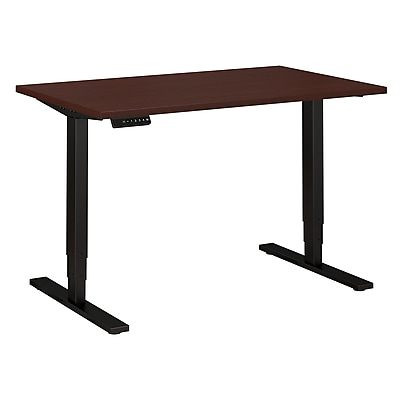 Move 80 Series by Bush Business Furniture 48W x 30D Height Adjustable Standing Desk - Installed, Harvest Cherry (HAT4830CSBKFA)