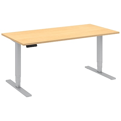 Move 80 Series by Bush Business Furniture 60W x 30D Height Adjustable Standing Desk - Installed, Natural Maple (HAT6030ACKFA)