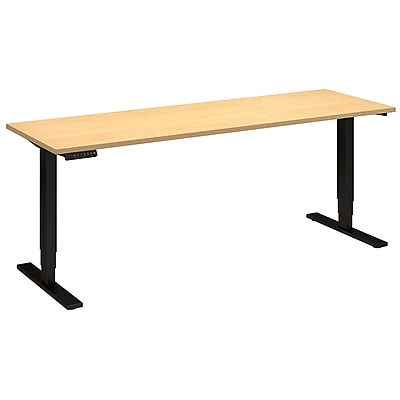 Move 80 Series by Bush Business Furniture 72W x 24D Height Adjustable Standing Desk - Installed, Natural Maple (HAT7224ACBKFA)