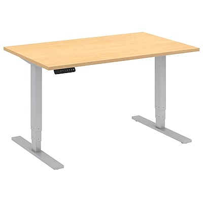 Move 80 Series by Bush Business Furniture 48W x 30D Height Adjustable Standing Desk - Installed, Natural Maple (HAT4830ACKFA)