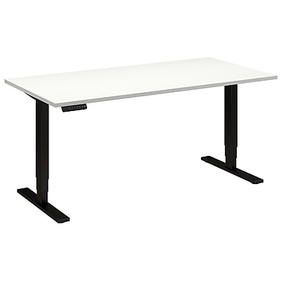 Move 80 Series by Bush Business Furniture 60W x 30D Height Adjustable Standing Desk - Installed, White (HAT6030WHBKFA)