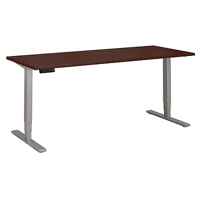 Move 80 Series by Bush Business Furniture 72W x 30D Height Adjustable Standing Desk - Installed, Harvest Cherry (HAT7230CSKFA)