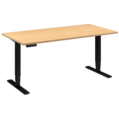 Move 80 Series by Bush Business Furniture 60W x 30D Height Adjustable Standing Desk - Installed, Natural Maple (HAT6030ACBKFA)