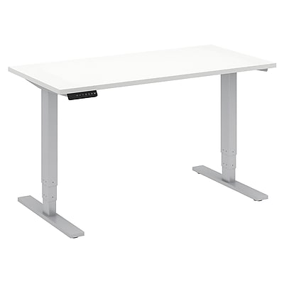 Move 80 Series by Bush Business Furniture 48W x 24D Height Adjustable Standing Desk - Installed, White (HAT4824WHFA)